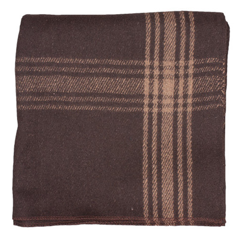 Adventure Brown/Camel Striped Wool Blanket  - View