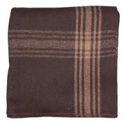 Adventure Brown/Camel Striped Wool Blanket  - View