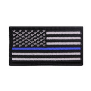 "Thin Blue Line ""Iron On"" Flag Patch - View"