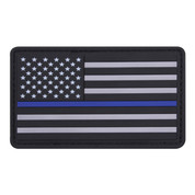 Thin Blue Line PVC Flag Patch - View