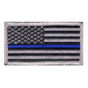 Thin Blue Line Police U.S. Flag Patch - View