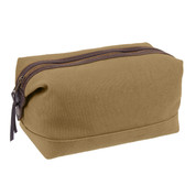 Classic Canvas & Leather Travel Kit Bag - View