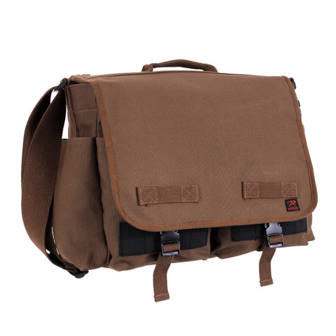 Brown Concealed Carry Messenger Bag - Side View