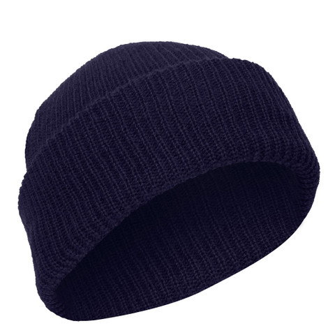 Navy Blue Acrylic Watch Caps - View
