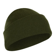 Deluxe Fine Knit Olive Green Watch Cap - View