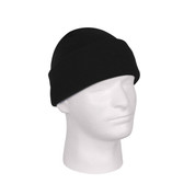 Deluxe Fine Knit Tactical Black Watch Cap - View