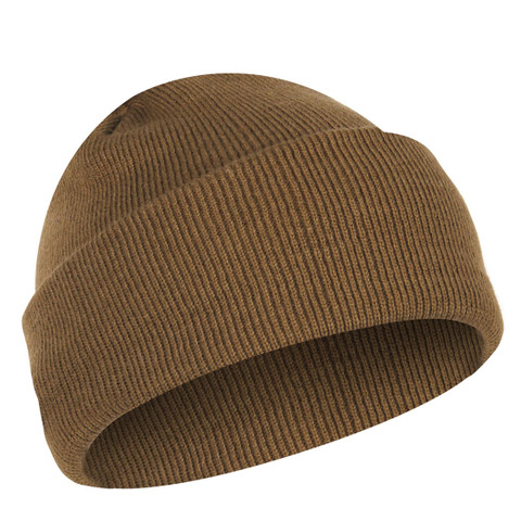 Deluxe Fine Knit Coyote Brown Watch Cap - View