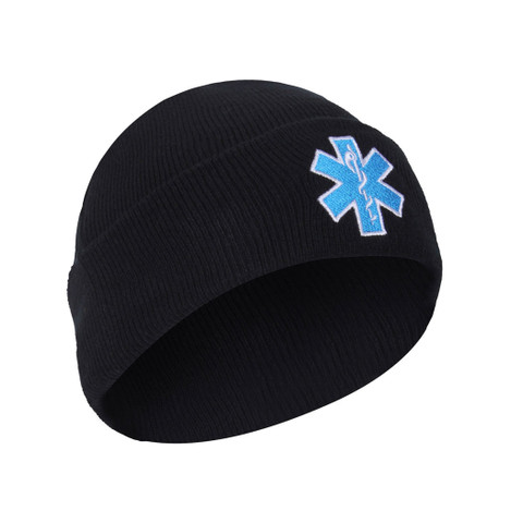 """EMT""""Star of Life"""" Knit Watch Caps - View"""