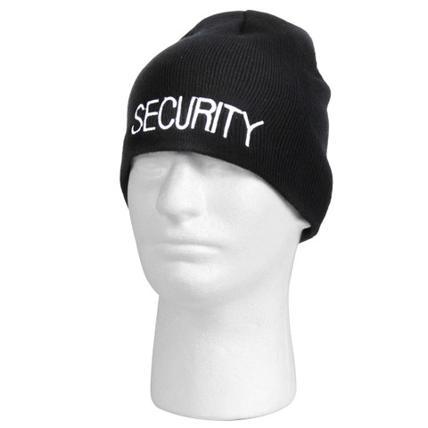 Embroidered Security Acrylic Skull Cap - View