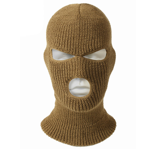 Coyote Brown 3 Hole Face Mask - View