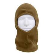 Coyote Brown Polar Fleece One Hole Balaclava - View