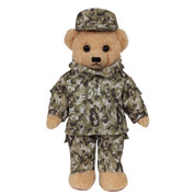 Kids Camo Teddy Bear - View