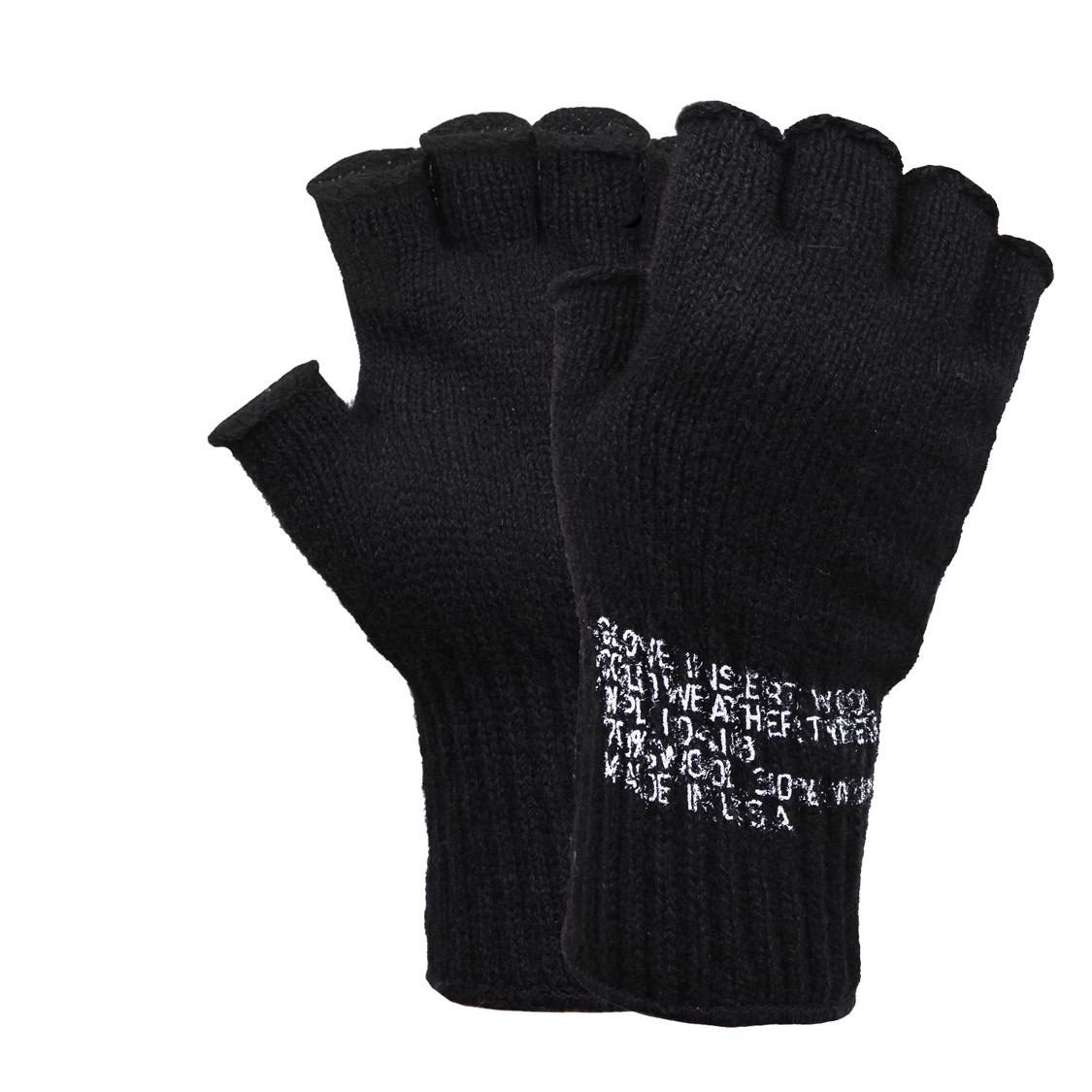 Shop USA Made Fingerless Wool Military Gloves - Fatigues Army Navy Gear e731f553f25