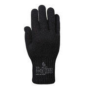 G.I. Black Wool Liner Gloves - Top View