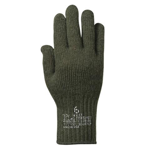 G.I. Olive Drab Wool Liner Gloves - View