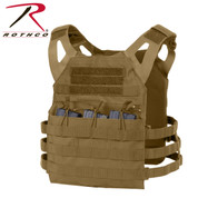 Rothco Coyote Brown Plate Carrier Molle Vest - View