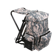 Digital Camo Backpack & Stool Combo Pack - Side View
