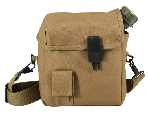 Coyote Brown Enhanced Nylon 2Qt. Bladder Canteen Cover - View