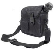 Tactical Enhanced Black 2QT Bladder Canteen Cover - Side View