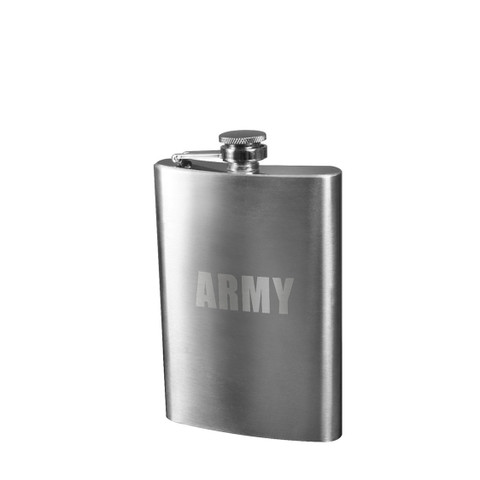 Stainless Steel Army Flask - View