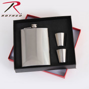 Rothco Stainless Steel Flask Gift Set - Gift Box View