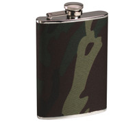 Rothco Woodland Camo Stainless Steel Flask - View