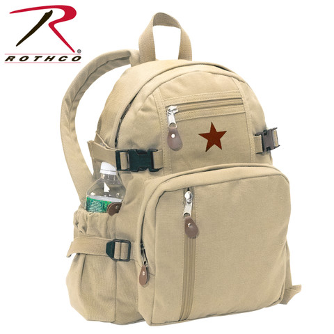 Vintage Khaki Canvas Mini Republic Daypack - Rothco View