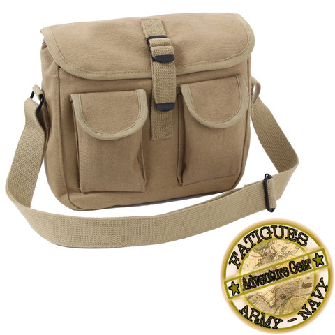 Khaki Ammo Shoulder Bag - Fatigues Brand View