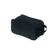 Black Canvas Travel Kit Bag - View
