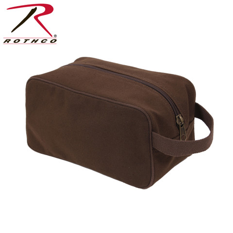 Earth Brown Canvas Travel Kit Bag - Rothco View