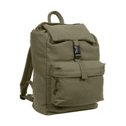 Army Olive Canvas Trail Daypack - View