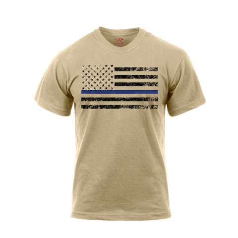 Desert Sand Thin Blue Line T Shirt - View