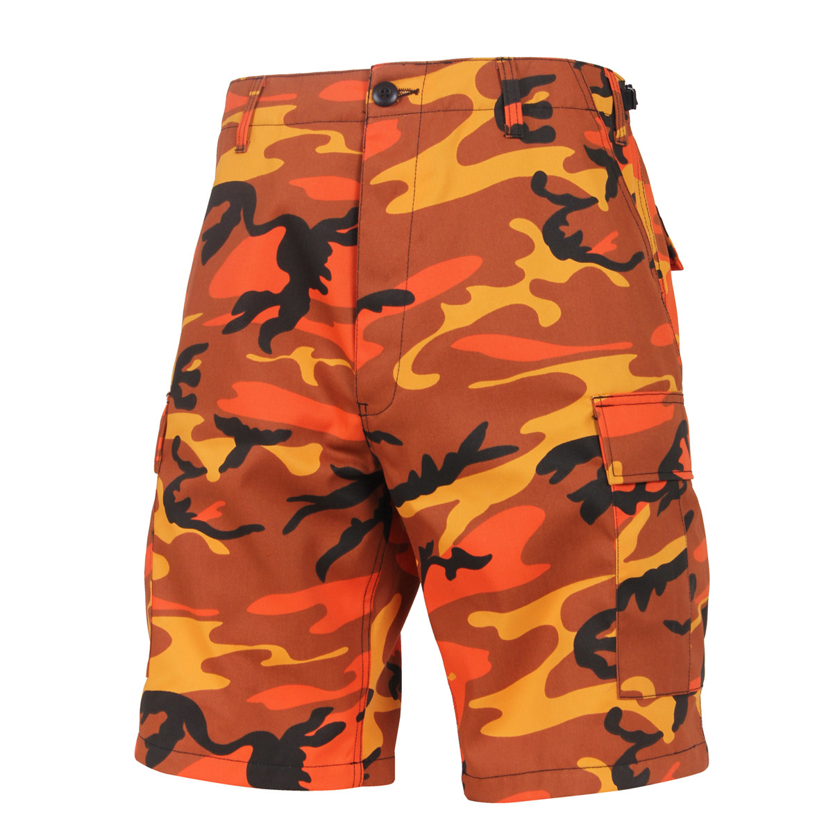 bae3abc8a013b Shop Rothco Orange Camo Shorts - Fatigues Army Navy Gear