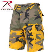 Stinger Yellow Camo Military BDU Shorts - Rothco View
