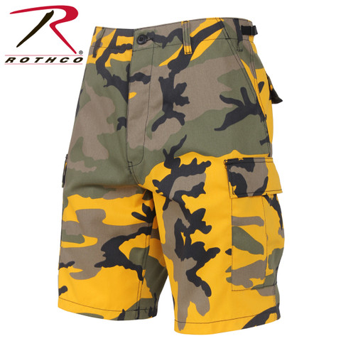 Stinger Yellow Camo Military BDU Shorts - Rothco View