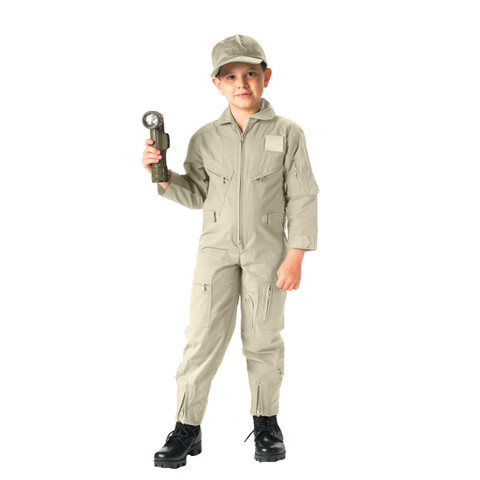 Kids Khaki Air Force Flight Suit - View