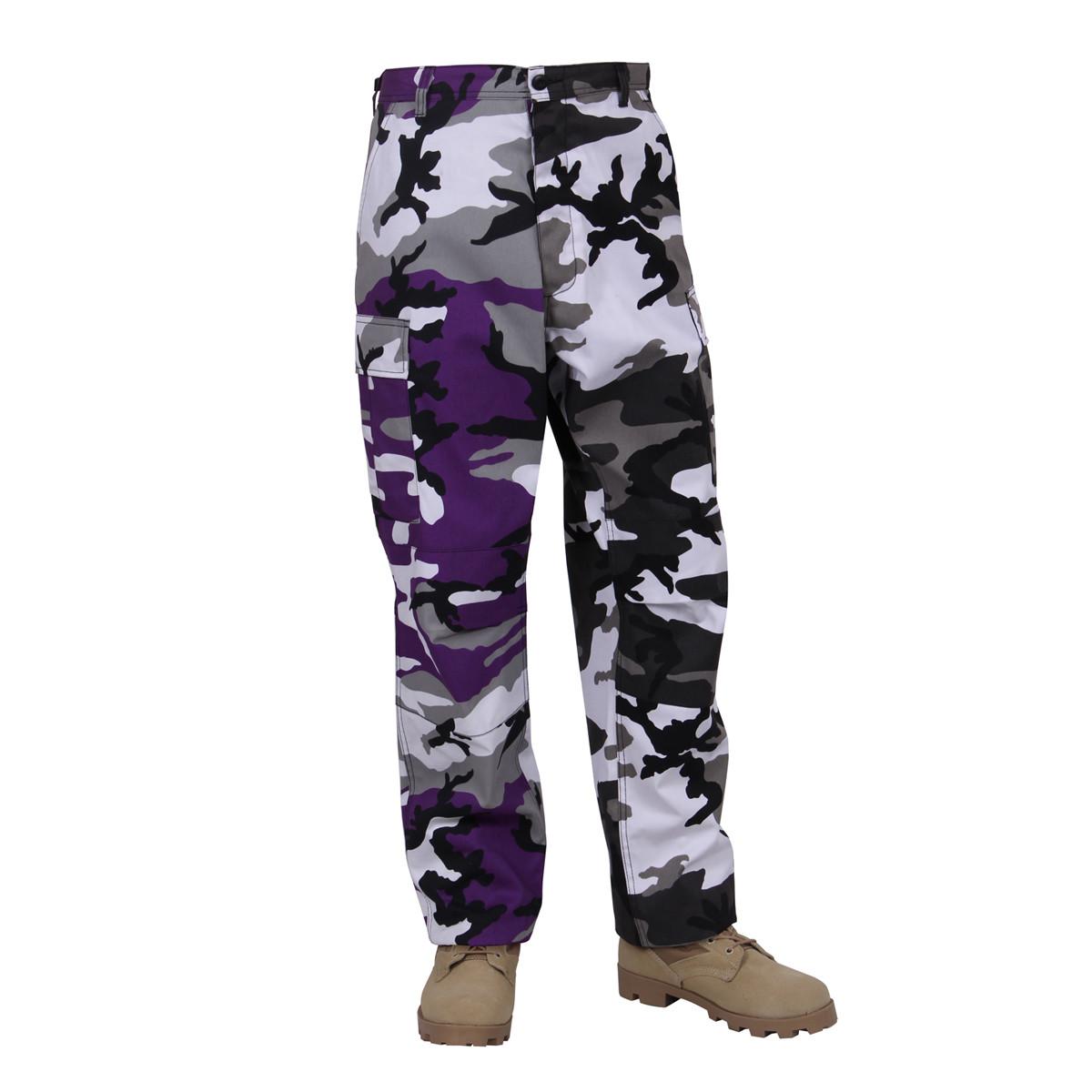 2f5cf5ade5629c Shop Two Tone City Purple Camo Pants - Fatigues Army Navy