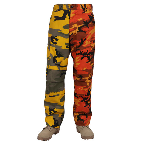Two Tone Stinger Savage Camo Fatigues - Front View