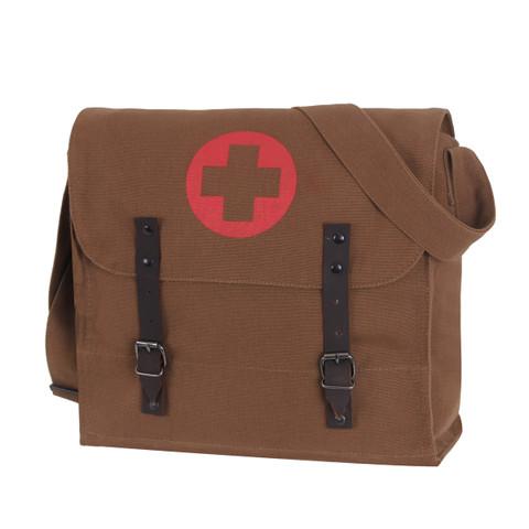 Brown Medics Bag w/Cross - View
