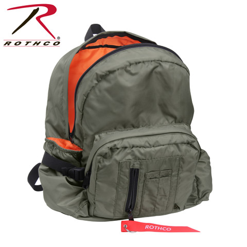Rothco MA-1 Bomber Backpack - Open View