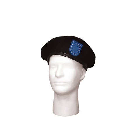 Military Type Beret w/Blue Flash - View