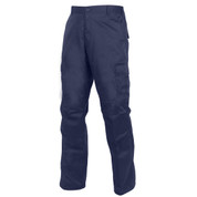 Relaxed Fit Zipper Navy Blue BDU Pants - Front Angle View