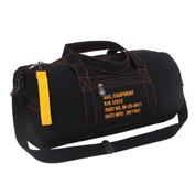 Military Style Black Canvas Equipment Gear Bag - View