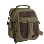 Classic Moss Green Deluxe Travelers Shoulder Bag - View