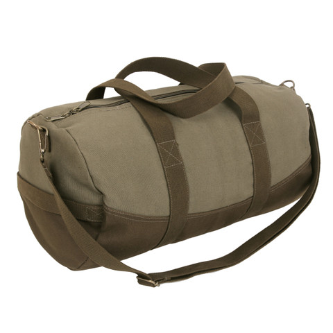 Moss Brown Canvas Duffle Gear Bag - View