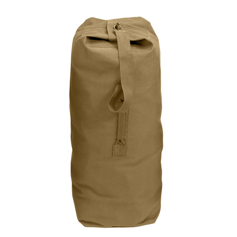 "Coyote 50"" Heavy Canvas Jumbo Top Load Duffle Bag - View"