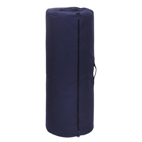 "Navy Blue Heavy Canvas 50"" Side Zipper Duffle Bag - View"