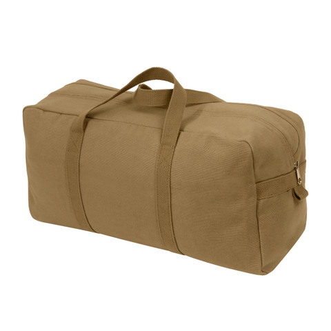 Coyote Brown Canvas Military Tanker Tool Bag - View