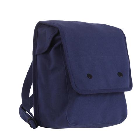 Navy Blue Canvas Map Case Shoulder Bag View