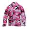 Pink Camo Color BDU Fatigue Shirt - View